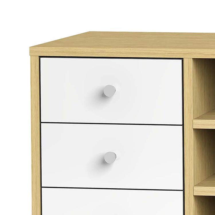tv schrank bellac ii eiche dekor weiss moebel. Black Bedroom Furniture Sets. Home Design Ideas