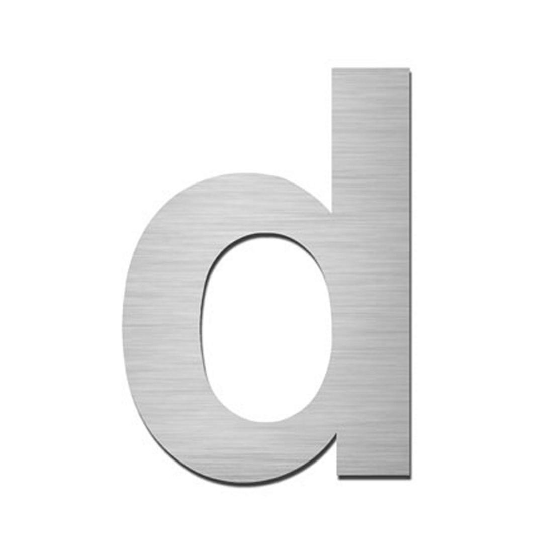 hausnummer index zum aufkleben d matt geb rstet edelstahl silber moebel. Black Bedroom Furniture Sets. Home Design Ideas