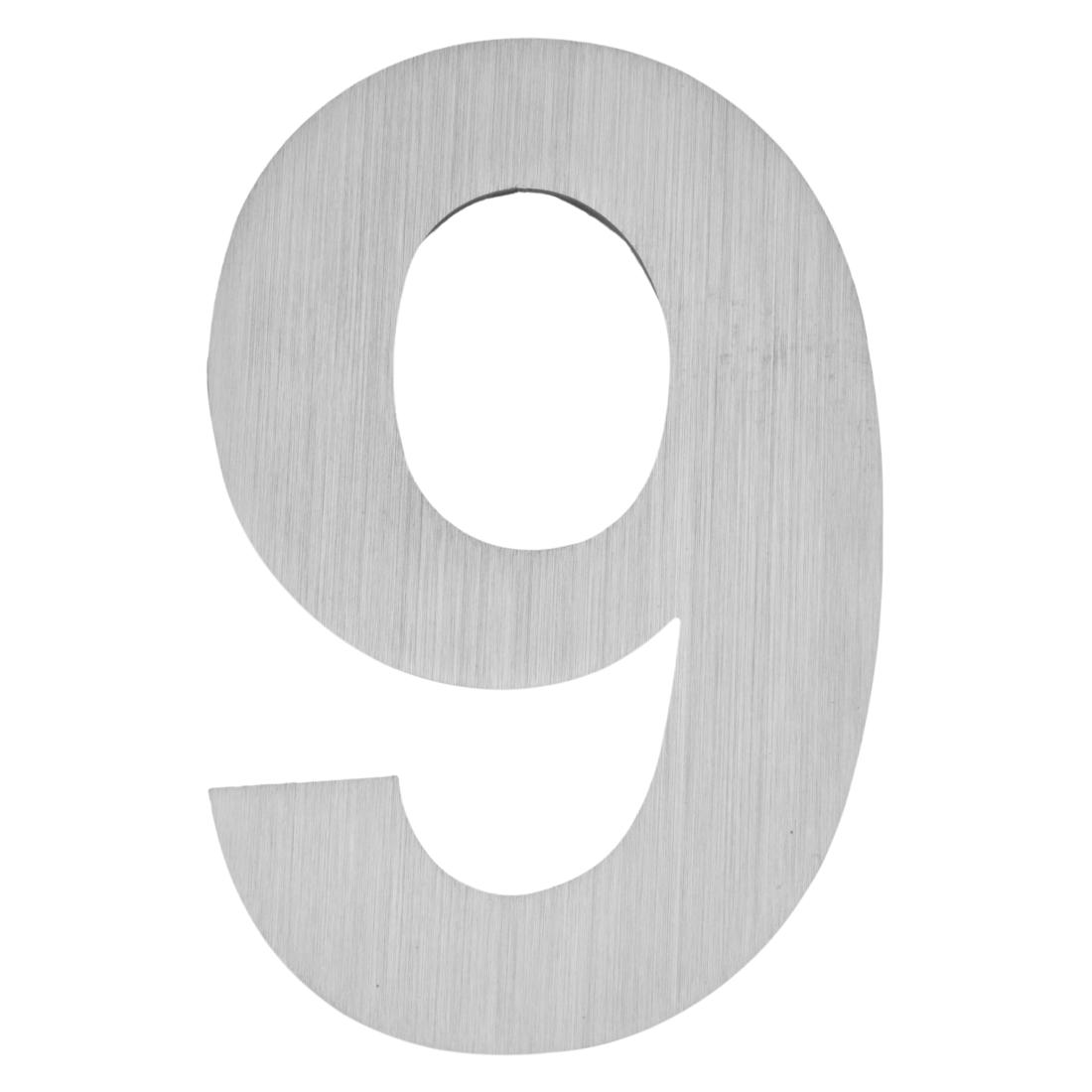 hausnummer zum aufschrauben 9 matt geb rstet edelstahl matt geb rstet silber moebel. Black Bedroom Furniture Sets. Home Design Ideas