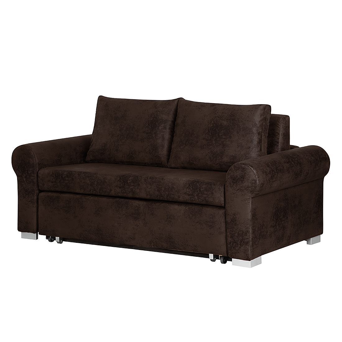 schlafsofa latina country antiklederoptik dunkelbraun 185 cm moebel. Black Bedroom Furniture Sets. Home Design Ideas
