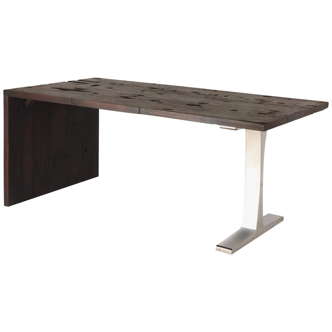 Schreibtisch dunkel tisch computertisch arbeitstisch for Mobel schreibtisch